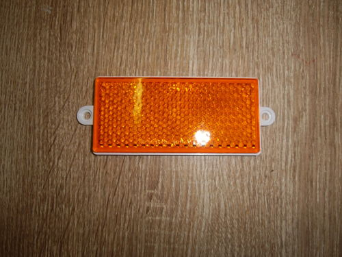 Seitenreflecktor orange 105x48 mm